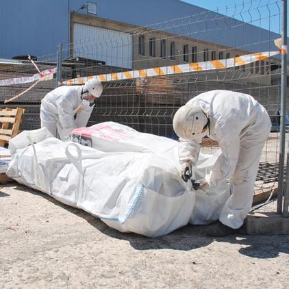 big bag asbest sichere entsorgung transport. Black Bedroom Furniture Sets. Home Design Ideas